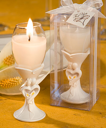 Bride And Groom Champagne Flute Candle Holder Favors  Weddings