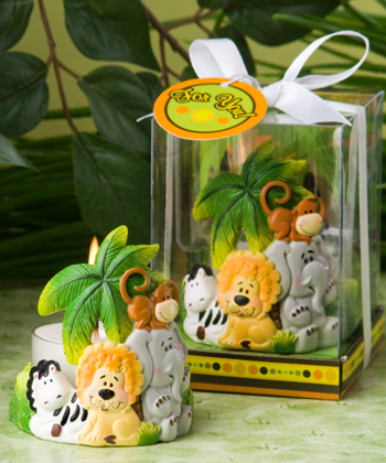 Jungle Critters Children Candle Favors baby shower favors