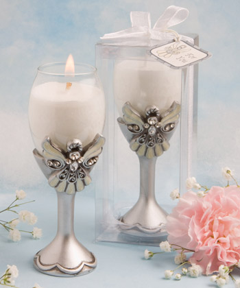 Angel Champagne Flute Candle Holders baby shower favors