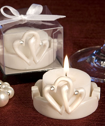 Interlocking Hearts Favor Saver Candleswholesale/favors_2014/8304.jpg Wedding Supplies