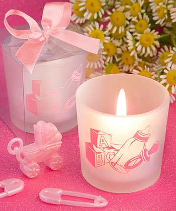 Favor Saver Baby Girl Themed Shower Candle Favors baby shower favors