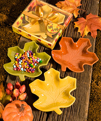 Autumn Magic Leaf Candy Dishes Weddings