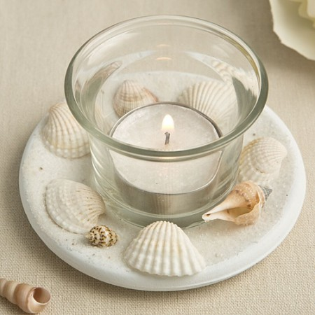 CLEARANCE SEA SHELL THEMED CANDLE VOTIVE WITH NATURAL SHELLwholesale/fc4228.jpg Wedding Supplies