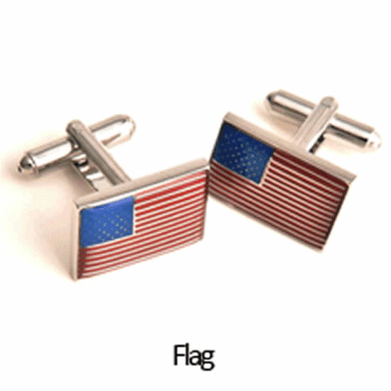 American Flag Cuff Links Personalized with Box Weddings