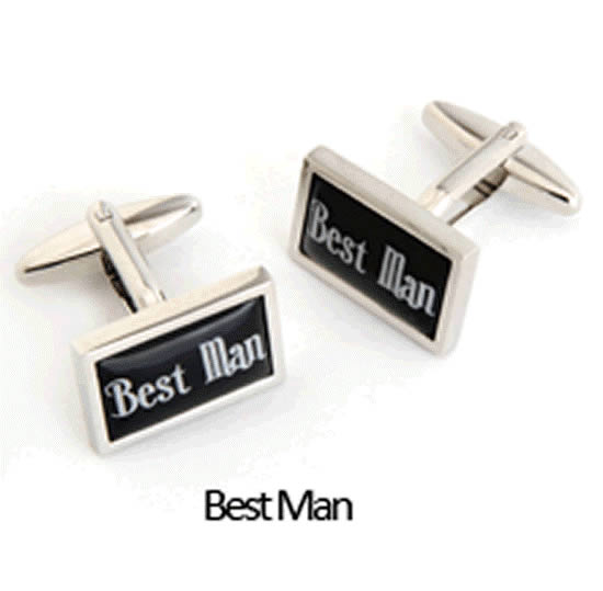 Bestman Cuff Links Personalized with Box  Weddings