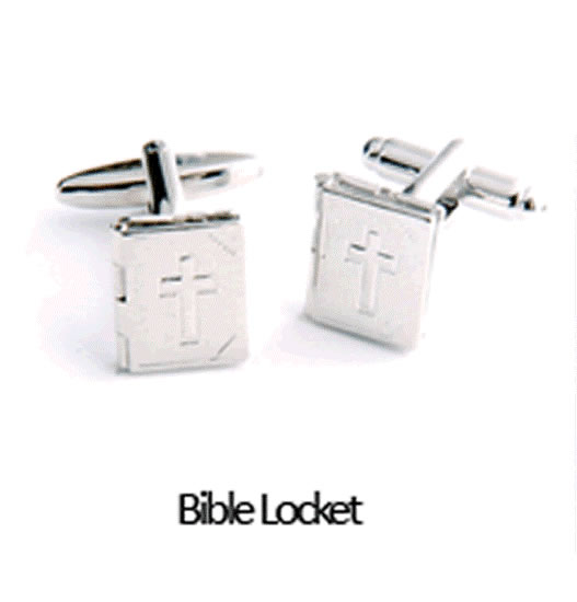 Bible Locket Cuff Links Personalized with Box  Weddings