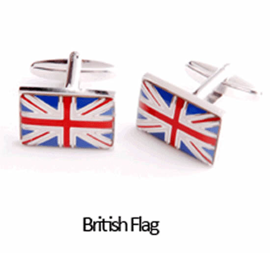British Flag Cuff Links Personalized with Box200  Weddings