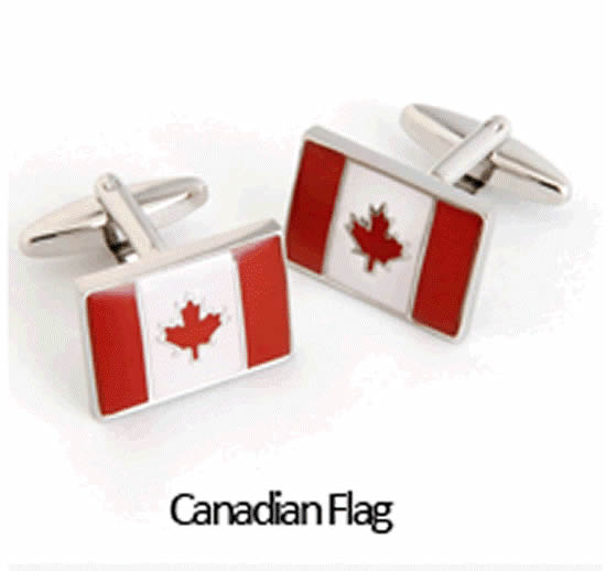 Canadian Flag Cuff Links Personalized with Box200  Weddings