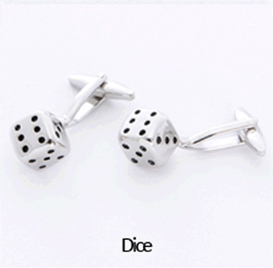 Dice Cuff Links Personalized with Boxwholesale/gc658_dice.jpg Wedding Supplies