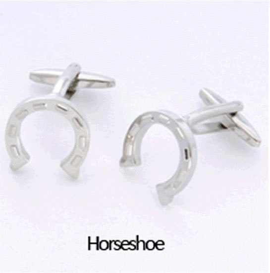 Horseshoe Cuff Links Personalized with Box200  Weddings