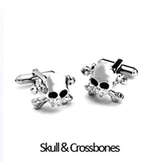 Skull And Crossbones Cuff Links Personalized with Box  Weddings