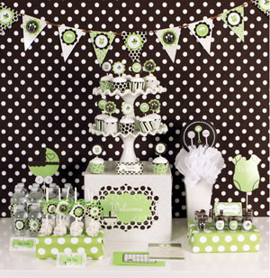 Green Baby Shower Decorations Party Kit baby shower favors