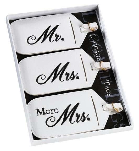 Set of 3 Luggage Tags200  Weddings