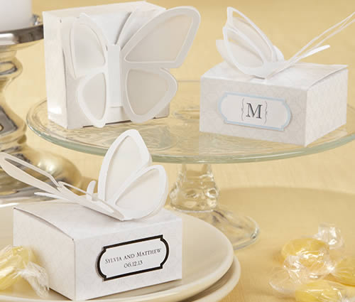 24 3D Butterfly Favor Boxes  Weddings