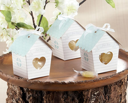 24 Bird House Favor Box Set baby shower favors