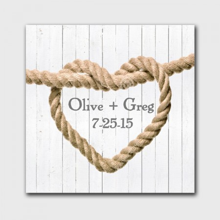 Knot Canvas Sign - White Wood200  Weddings
