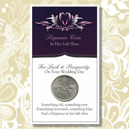 Sixpence In Her Left Shoe Good Luck Wedding Coin200  Weddings