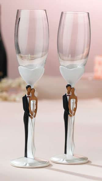 African or Caucasian Toasting Flutes Wedding Flutes Weddings