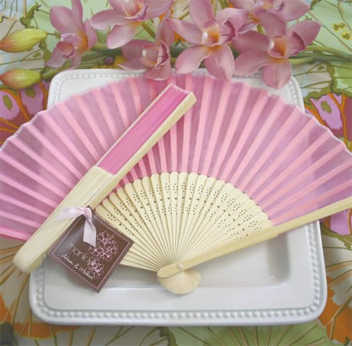 Bridal Silk Walk Down The Aisle Fan - Pink200  Weddings