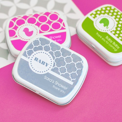 MOD Pattern Baby Mint Tins - Wholesale baby shower favors