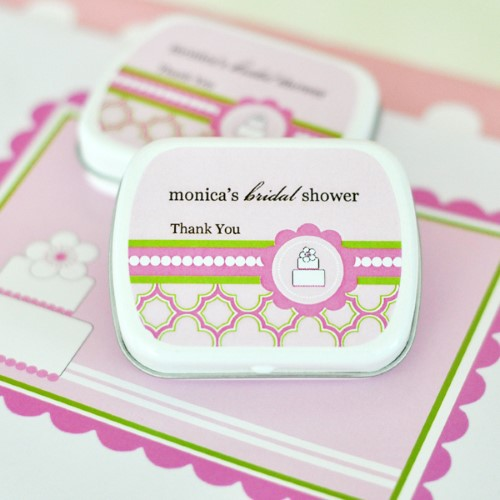 Personalized Mint Tins - Pink Cake - Wholesale  Weddings