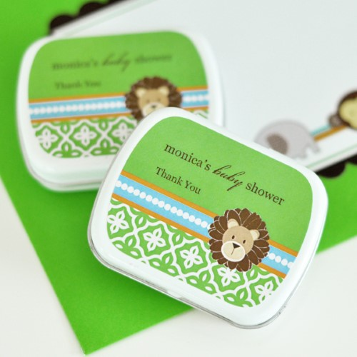 Personalized Mint Tins - Jungle Safari - Wholesale baby shower favors