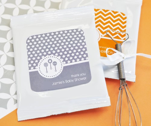 MOD Pattern Baby Hot Cocoa + Optional Heart Whisk - Wholesale baby shower favors