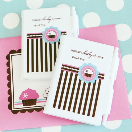 Personalized Notebook Favors - Cupcake Party - Wholesale  Weddings