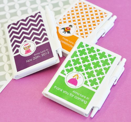 MOD Pattern Kids Birthday Notebook Favors - Wholesale200  Weddings