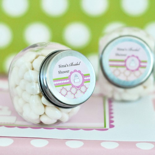Personalized Candy Jars - Pink Cake  - Wholesale  Weddings