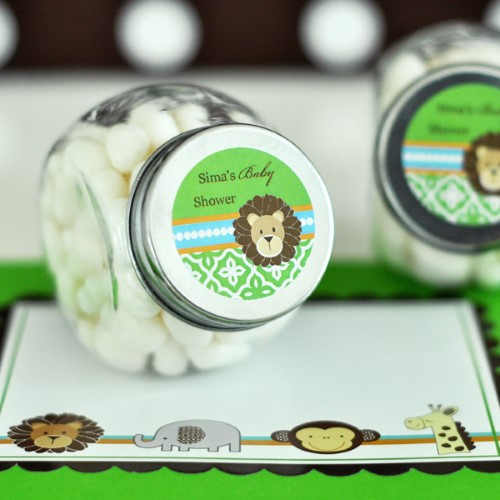 Personalized Candy Jars - Jungle Safari  - Wholesale baby shower favors