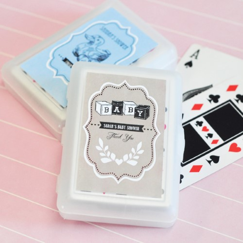 Vintage Baby Personalized Playing Cards  - Wholesale baby shower favors