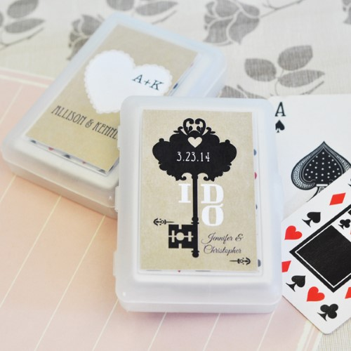 Vintage Wedding Personalized Playing Cards  - Wholesale200  Weddings