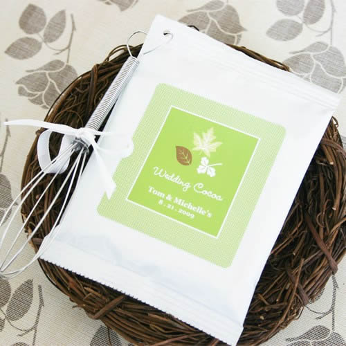 Fall for Love Personalized Hot Cocoa Favors Weddings