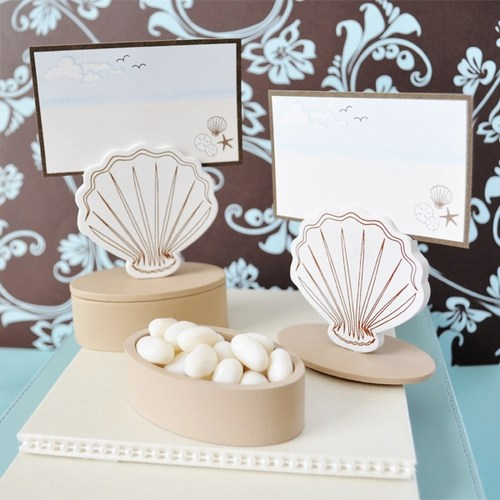 12 Shell Place Card Favor Boxes with Cards Weddings