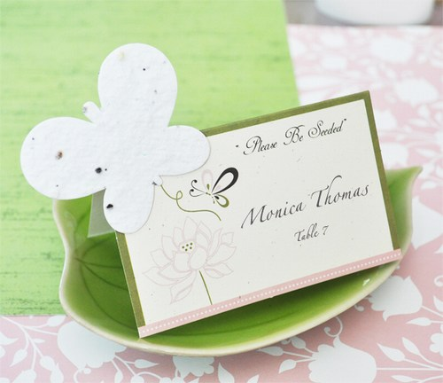 Butterfly Plantable Seed Place Cards Weddings