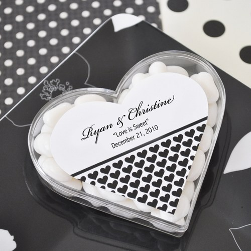 Clearly in Love Heart Acrylic Favor Boxes Weddings