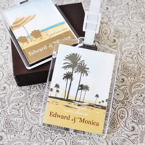 Designer Personalized Acrylic Luggage Tags200  Weddings