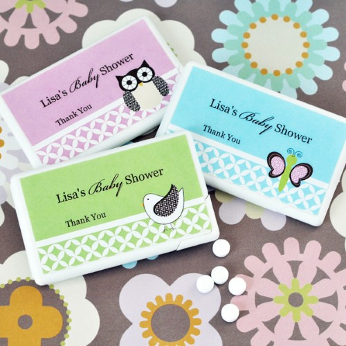 Personalized Baby Animal Mini Mint Favors - Wholesale baby shower favors