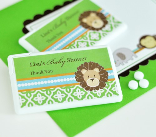 Personalized Mini Mint Favors - Jungle Safari Animals Baby Shower baby shower favors