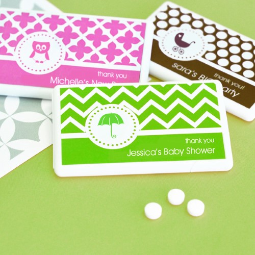 MOD Pattern Baby Mini Mint Favors - Wholesale baby shower favors