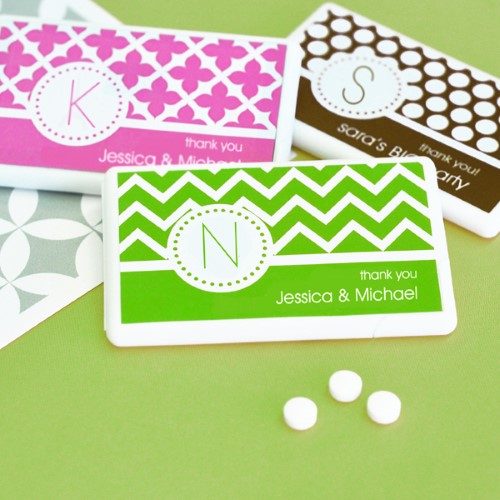 MOD Pattern Monogram Mini Mint Favors - Wholesalewholesale/wedding-favors-eb/EB2211MDM_large1.jpg Wedding Supplies