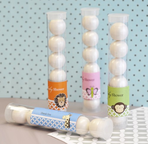 Baby Animal Personalized Candy Favor Tubes  - Wholesale baby shower favors