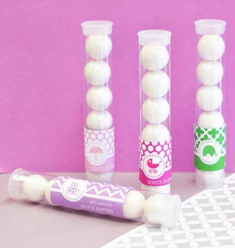 MOD Pattern Baby Candy Favor Tubes  - Wholesale baby shower favors