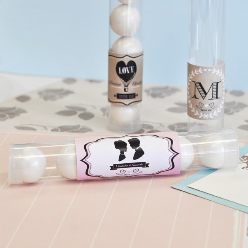 Vintage Wedding Personalized Candy Favor Tubes  - Wholesale  Weddings
