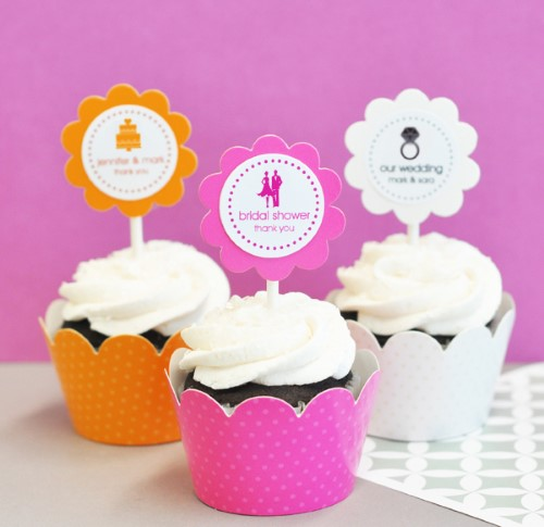 24 Theme Silhouette Cupcake Wrappers + Cupcake Toppers  Weddings