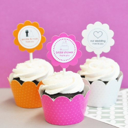 24 Theme Cupcake Wrappers + Cupcake Toppers Personalizedwholesale/wedding-favors-eb/EB2305T_large1.jpg Wedding Supplies