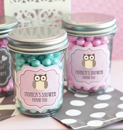 Baby Animal Mini Mason Jars  - Wholesale baby shower favors
