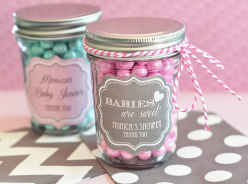 Personalized Baby Mini Mason Jars - Wholesale baby shower favors