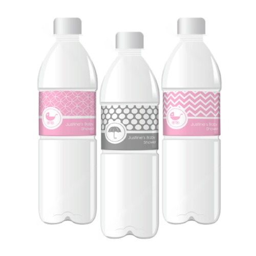 Baby Water Bottle Labels  - Wholesale baby shower favors